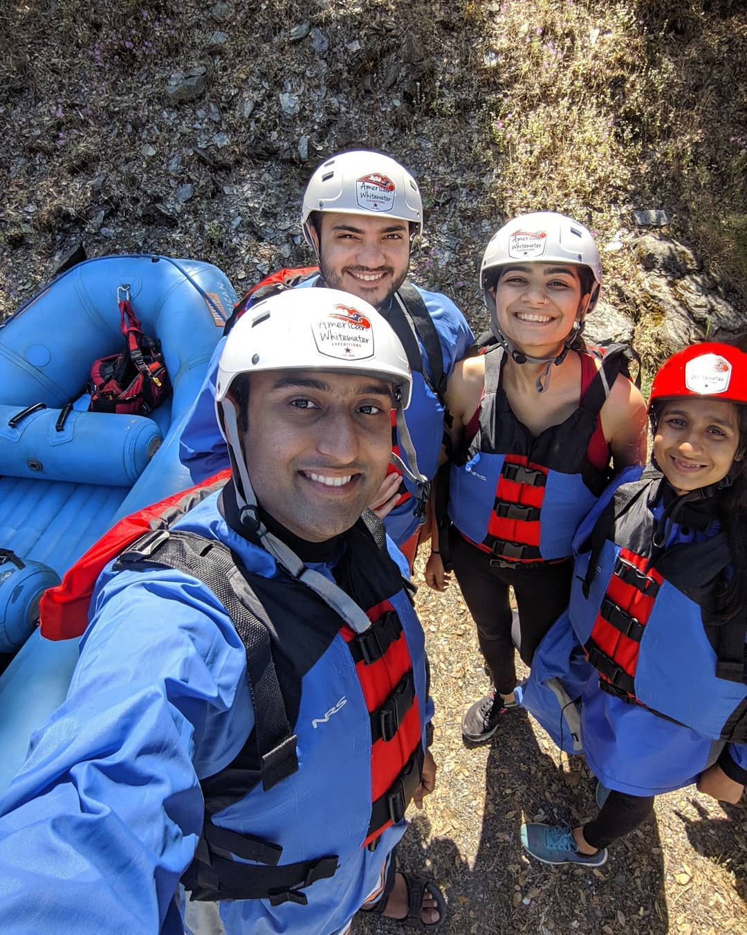 Rafting the whitewaters